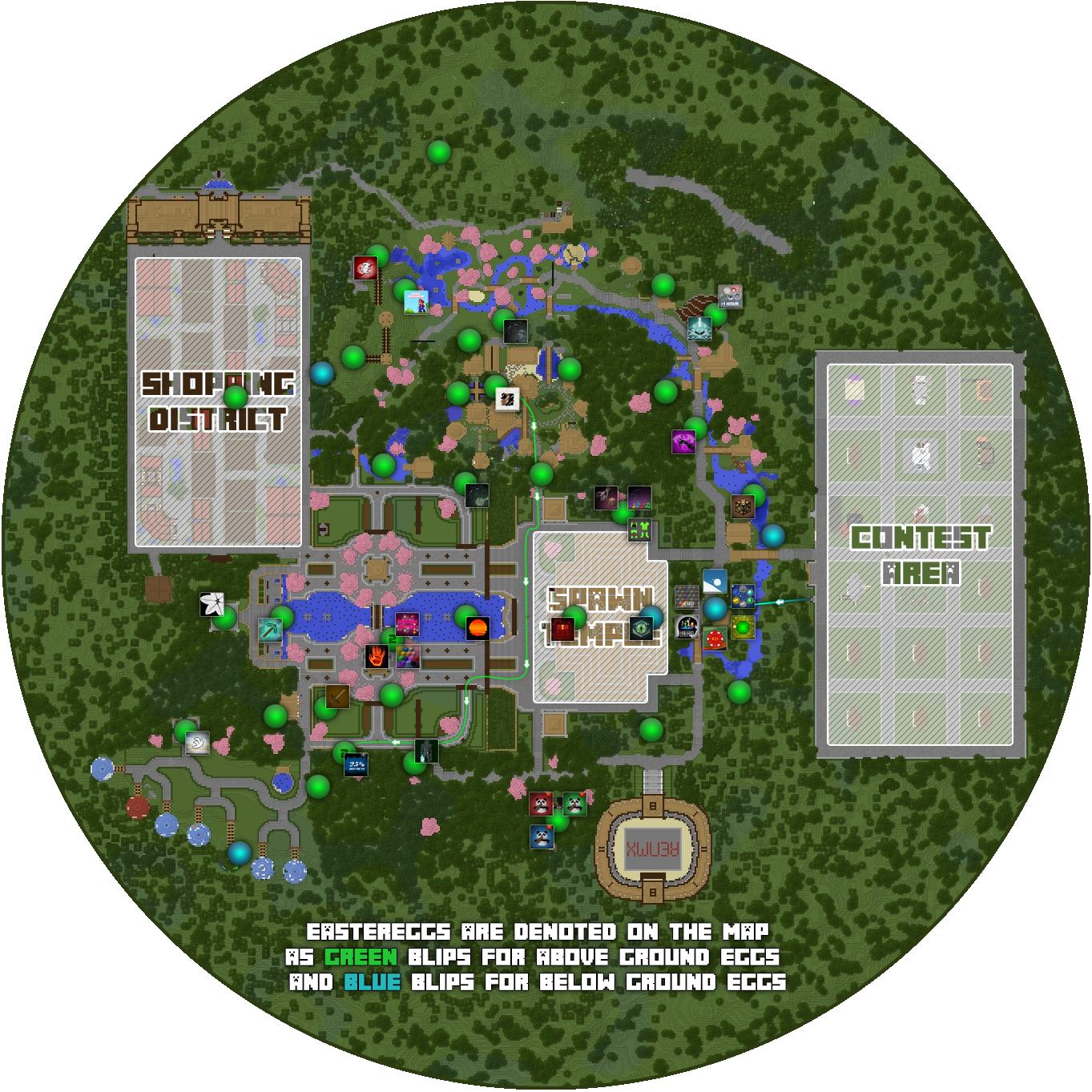 Easter Egg Map